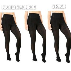 Marilyn Monroe 3 pack of black pantyhose tights